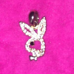 Vintage Playboy pendant with rhinestones